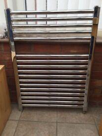 Chrome towel rail radiator