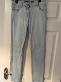 Ladies pale blue fitted jeans size 10