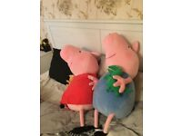 Extra large peppa pig and George pig soft toy