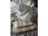 Brand new with tags on Silver grey fascinator