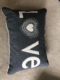 Grey LOVE cushion