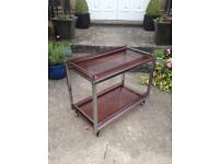 Vintage retro drinks / cocktail trolley / table