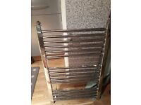 Chrome heated towel radiator: 20m wide x 30 high £20 (USED)