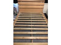 Double bed wooden frame