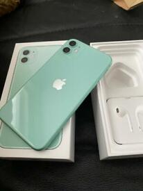 Apple iPhone 11 green 64gb immaculate