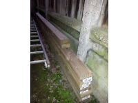 Timber - decking boards/fence posts/4x2 (whole lot or split prices)