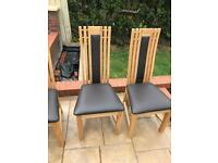 DFS wooden chairs X4
