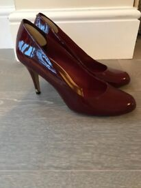 Ted Baker red patent shoes size 7