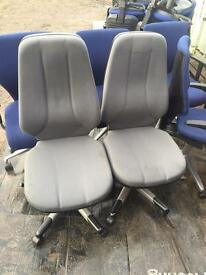 2 X RH Logic grey office swivel chairs. Delivery