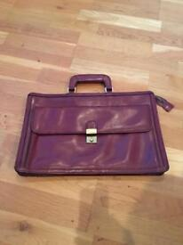 Vintage Oxblood Leather Briefcase