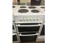 50CM WHITE HOTPLATE BEKO ELECTRIC COOKER