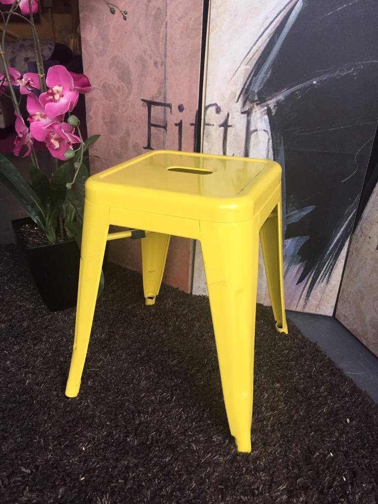 New Yellow Metal Stool Kitchen Stool Bedroom Stool