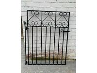 Wrought iron pedestrian gate & railings