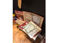 Vintage waddingtons campaign boards game Christmas fun