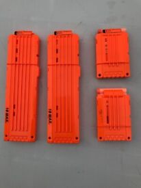 NERF MAGAZINE BUNDLE - 2 x 18 SHOT & 2 x 6 SHOT