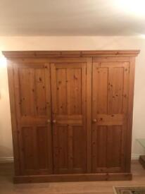Triple Wardrobe Farmhouse Solid Pine BRAND NEW