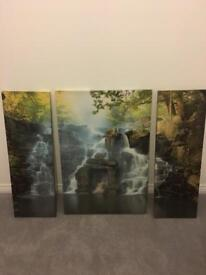 Waterfall canvas set