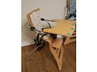 Kuster high chairs, two chairs with accessories, can sell separately