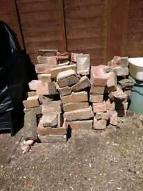 Free - small amount of bricks, some halfed. Need gone asap