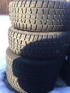 "15"" Steel Rims with Winter Tires- 215/60/15- 5x114.3 - 5x115 - $375 OBO"