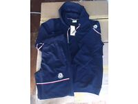 Premium Quality Moncler Tracksuits And Gilets £35 . Sizes Available, M-XXL In Navy, Grey. Hoody £45
