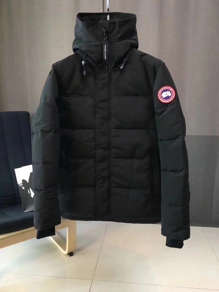 83956e2b9c40 Canada Goose MacMillan Parka Quilted Down Hooded Padded Jacket BLACK KHAKI  GREEN - LARGE EXTRA XL