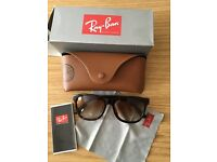 Ray-ban sunglasses brand new and never worn. Box,pouch, cloth and information booklet.