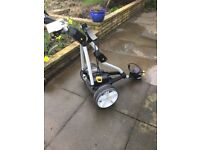 Powacaddy FW3 lead acid powered golf trolley