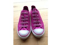 Converse All Star trainer - UK size 1 - cerise pink metallic