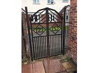 Heavy duty metal double garden gate
