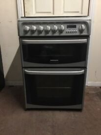 Cannon Harrogate dual fuel gas cooker 60cm grey FSD double oven 3 months warranty free local deliver