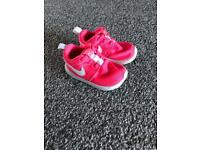 Girls Pink Nike Trainers Size 4.4