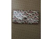 Accessorize pink and brown flower travel wallet