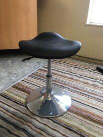 Black gas lift stool