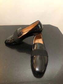 Women's Flat Patent Black Shoes - Brand New/Never Worn