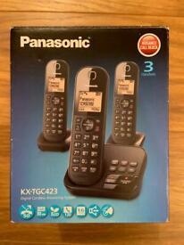 Set of 3 Panasonic Telephones