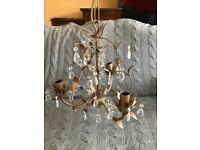 Laura Ashley Chandelier and Wall Lights