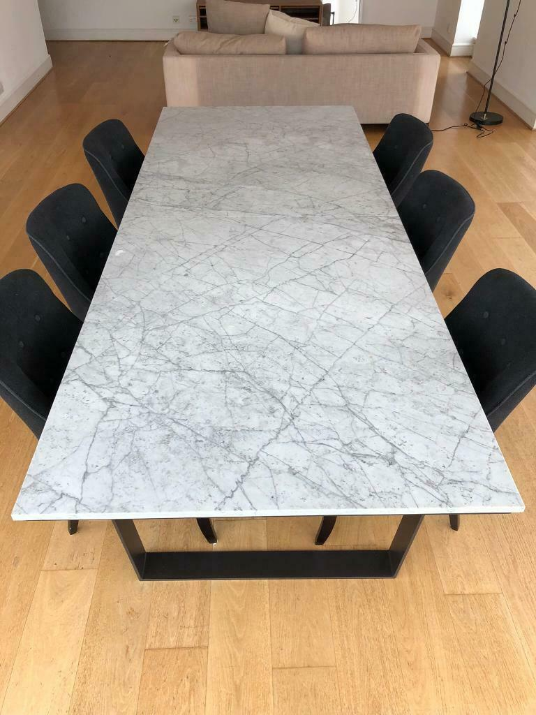 Brilliant Camerich Verge Carrara Marble Dining Table Rrp 2584 In London Gumtree Pabps2019 Chair Design Images Pabps2019Com