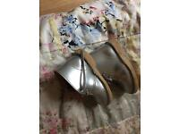 Clarks silver boots child/infant size 6