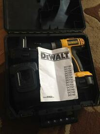 Dewalt 18V cordless hammer drill 2 BATTERIES AND A CHARGER