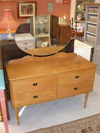 Antique retro dressing table with mirror