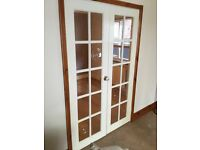 Solid wood glazed double doors