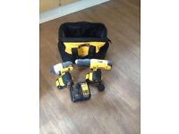 Set of 2 drills dewalt impact used 3 times