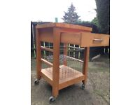 M&S Butchers Block Trolley **SOLD SUBJECT TO COLLECTION**