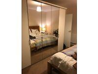 Price dropped!!! John Lewis Elstra 250cm mirrored hinged wardrobe