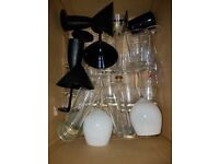 Box of mixed drinking glasses