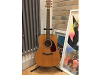 Fender DG-22S DAO-NAT acoustic guitar with stand