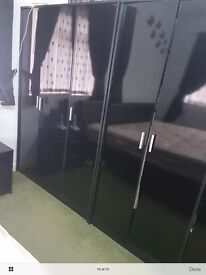 Wardrobe,drawer chest,bedside,table mirror,king size bed,lamp