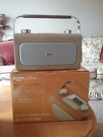 BUSH classic stereo DAB/FM radio, leather-look, cream. New - still on Argos site for £49.99!