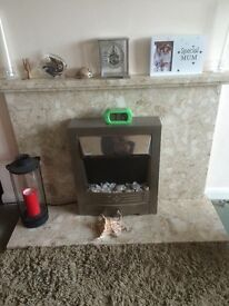 Marble fire surround and Mantie